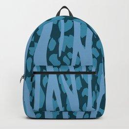 Zebra Stripes and Leopard Animal Print Pattern Backpack
