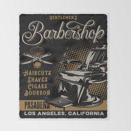 Gentlemen's Barber Shop LA Throw Blanket