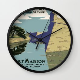 Vintage poster - Fort Marion Wall Clock