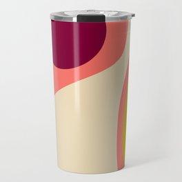 abstract composition 2 - modern blush pink Travel Mug