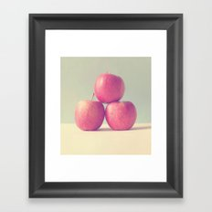Apple Trio Framed Art Print