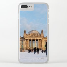 Snowy Reichstag, Berlin, Clear iPhone Case