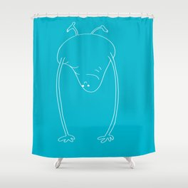 Simple handstand Shower Curtain