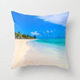 Paradise Walk Throw Pillow