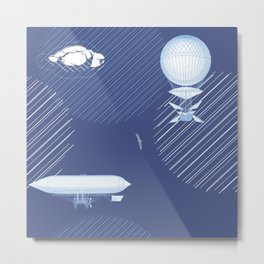 Airships Metal Print