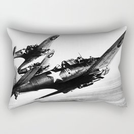 Vintage fighters Rectangular Pillow