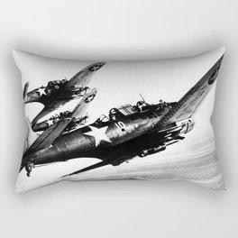 Vintage fighters Rectangular Pillow