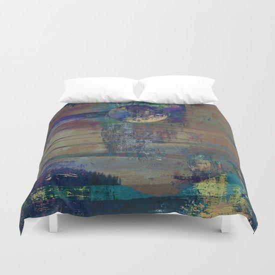 Night landscape Duvet Cover