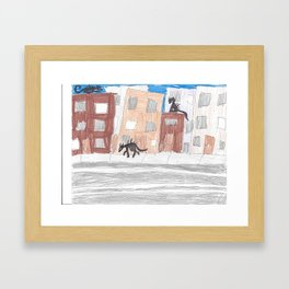 creatures in the night Framed Art Print
