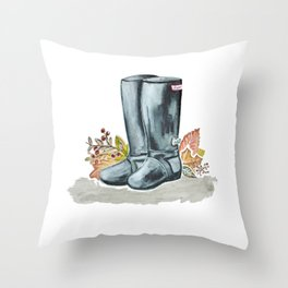 Fall boots  Throw Pillow