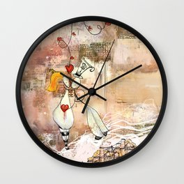 The thread of love Wall Clock