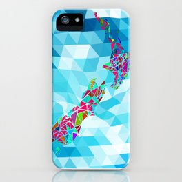 New Zealand Map : Square iPhone Case