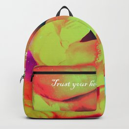 Trust your heart and let faith Decide. Backpack
