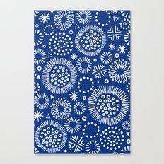 indigo doodles Canvas Print