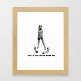 Loser Wookie Framed Art Print