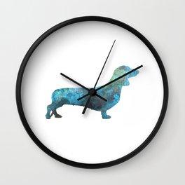 Female Dachsund in watercolor Wall Clock