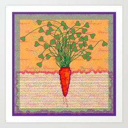 Carrot Love Art Print