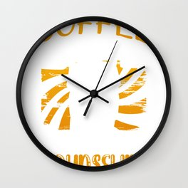 Counselor Coffee Humor Coffee First then Counseling Wall Clock