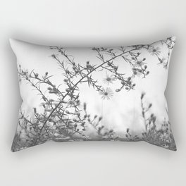 Wild Asters Botanical BW Rectangular Pillow