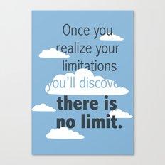 No Limit Canvas Print