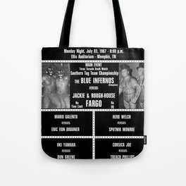 #17-B Memphis Wrestling Window Card Tote Bag