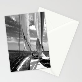 Black - white sailboat details | Annapolis, MD Stationery Cards