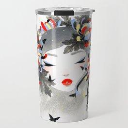 Chrysanthemum Mood Travel Mug