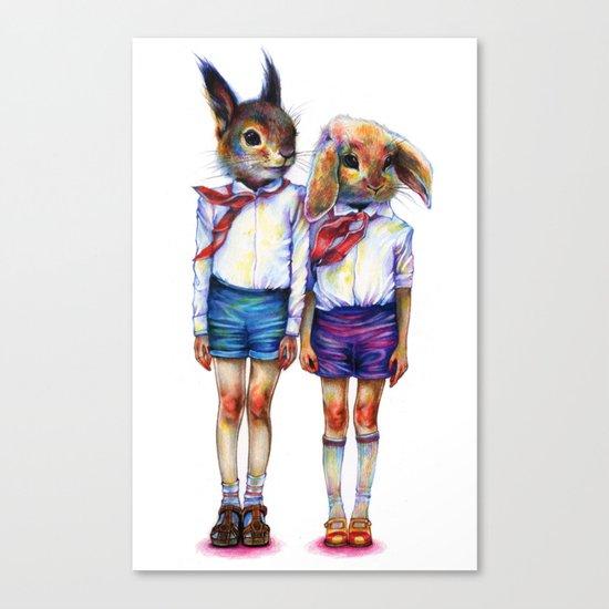 Shurik and Lyosha Canvas Print