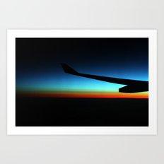 Dawn over the ocean Art Print