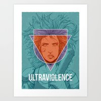 ultraviolence Art Prints featuring UltraViolence by EzJedi