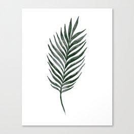 Palm Branch Art Canvas Print