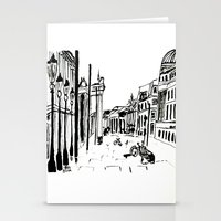 cityscape Stationery Cards featuring CITYSCAPE by hawwa a