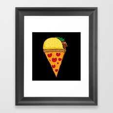 Taco Pizza Cone Framed Art Print