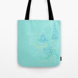 Turquoise Yoga Tote Bag
