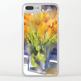 Summer Vase Clear iPhone Case