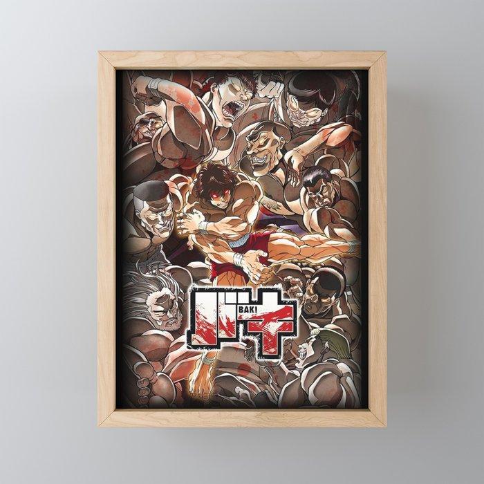 Baki Hanma Framed Mini Art Print by trixiemillercandy