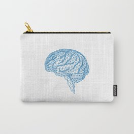 blue human brain Carry-All Pouch