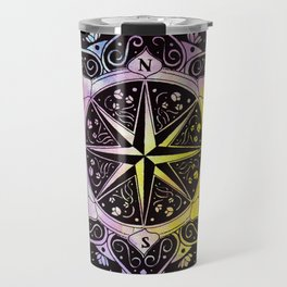 """""""Rose of the Winds""""  WATERCOLOR MANDALA (HAND PAINTED) BY ILSE QUEZADA Travel Mug"""