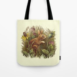 The Cottontail and the Katydid Tote Bag