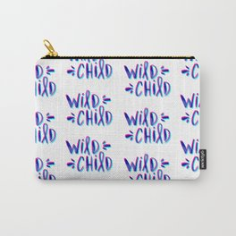 Wild Child – Magenta & Cyan Palette Carry-All Pouch