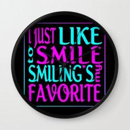 I Like Smiling Wall Clock