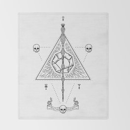 Deathly Hallows (White) Throw Blanket