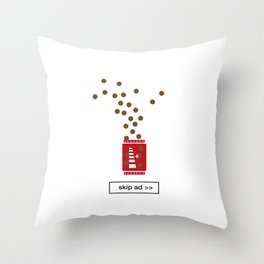 chocolate ad Throw Pillow