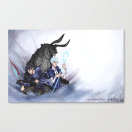 Cracked Crown & Claw Poster Canvas Print