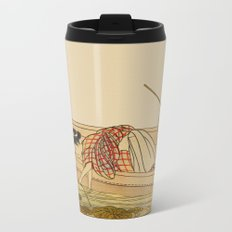 Women Gathering Lotus Blossoms Metal Travel Mug