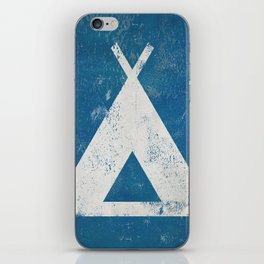 Camp Hike Campground Tent Teepee iPhone Skin