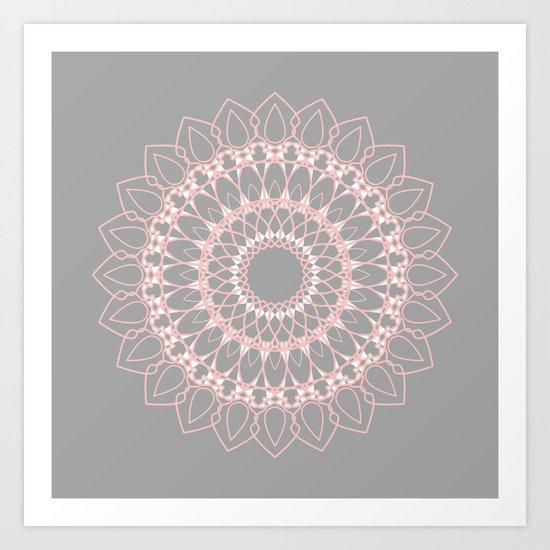 Mandala Rose  Art Print