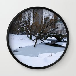 White Central Park3 Wall Clock