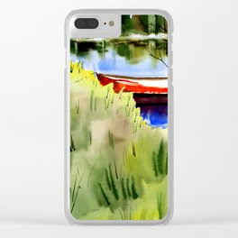 "Watercolor ""Small Boat"" Clear iPhone Case"