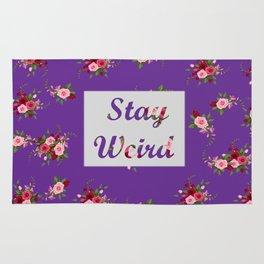 stay weird purple Rug